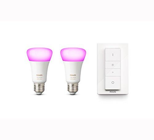 Philips Hue White and Color Ambiance E27 LED Lampe Dreierpack, dimmbar, bis zu 16 Millionen Farben, steuerbar via App, kompatibel mit Amazon Alexa (Echo, Echo Dot)