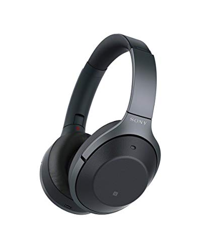 Sony WH-1000XM2 Bluetooth High-Resolution Kopfhörer (Noise Cancelling, kabellos, NFC, Headphones Connect App, bis zu 30 Stunden Akku, Amazon Alexa) schwarz