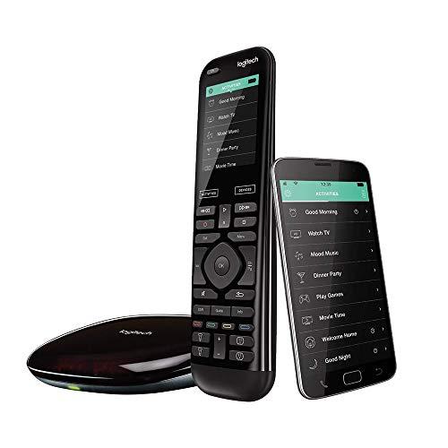Logitech HARMONY ELITE Universalfernbedienung, Für Kabelbox, Apple TV, fireTV, Alexa, Roku, Sonos und Smart Home-Geräten, Einfache Einrichtung mit App, LG/Samsung/Sony/Panasonic/Xbox/PS4 - schwarz