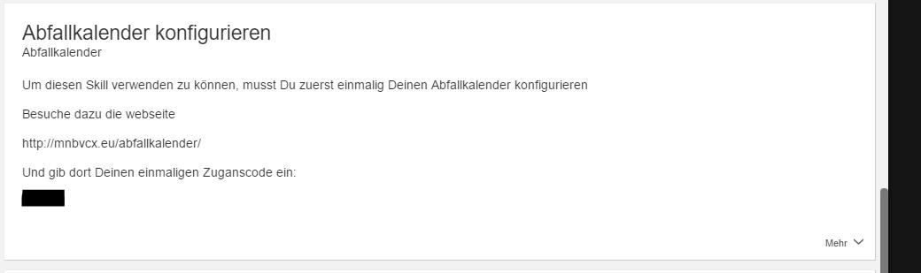 Abfallkalender Alexa App