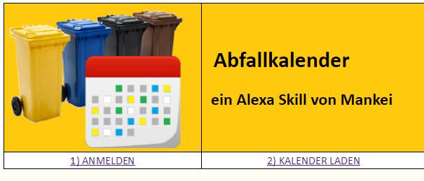 Alexa Skill Abfallkalender