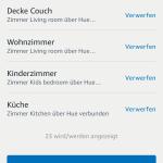 Übersicht in Amazon Alexa App Geräte