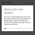 20 Sekunden Suche nach neuen Geräten mit Amazon Alexa App