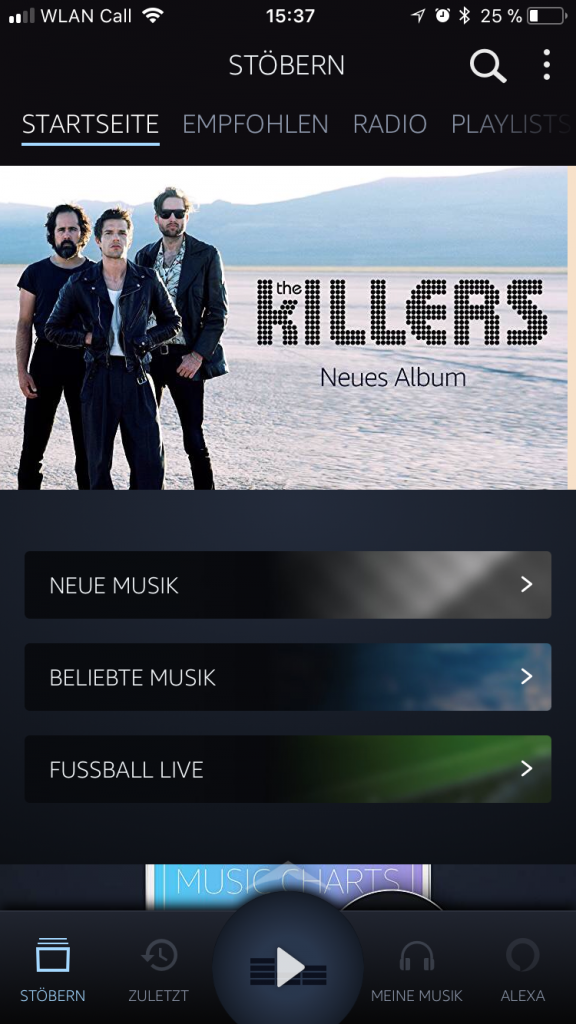 Alexa in der neuen Version der Amazon Music App