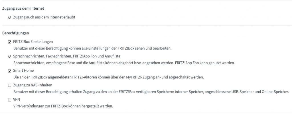 Fritzbox Benutzer Einstellungen